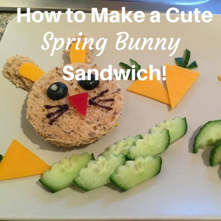 How to Make a Cute Spring Bunny Sandwiches fussy picky eaters toddler wont eat