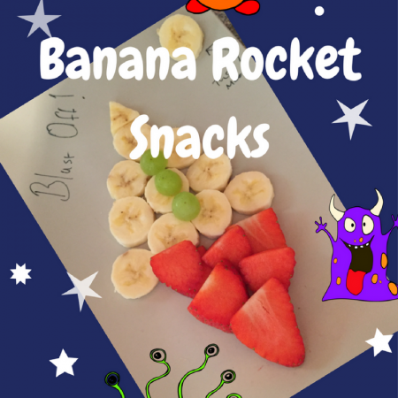 banana rocket healthy snack for children toddlers babies weaning
