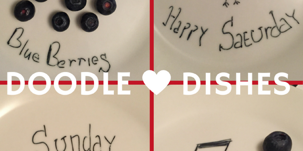 doodle dishes with food and edible ink pen