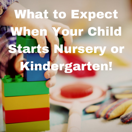 My Tips for Settling into a New Routine when child baby starts nursery or kindergarten
