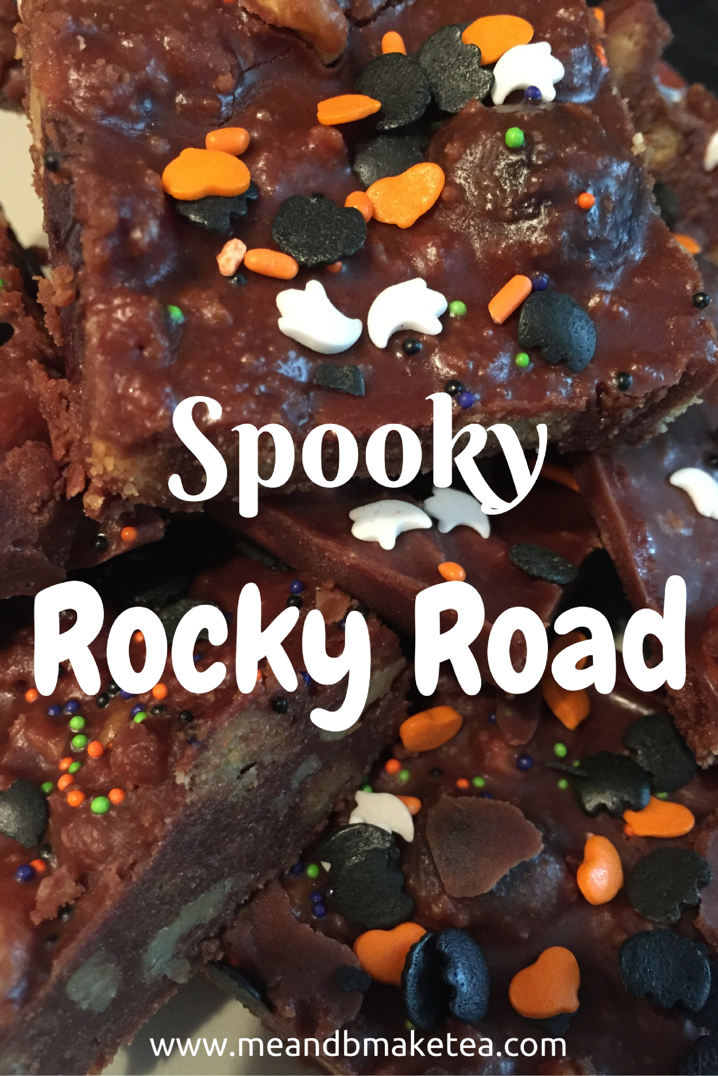 how to make a quick rocky road pudding biscuit dessert easy cooking with a toddler halloween recipe review
