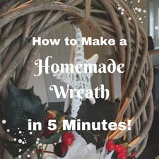 how to make a wicker wreath christmas door easy no sew tutorial diy home made hand made