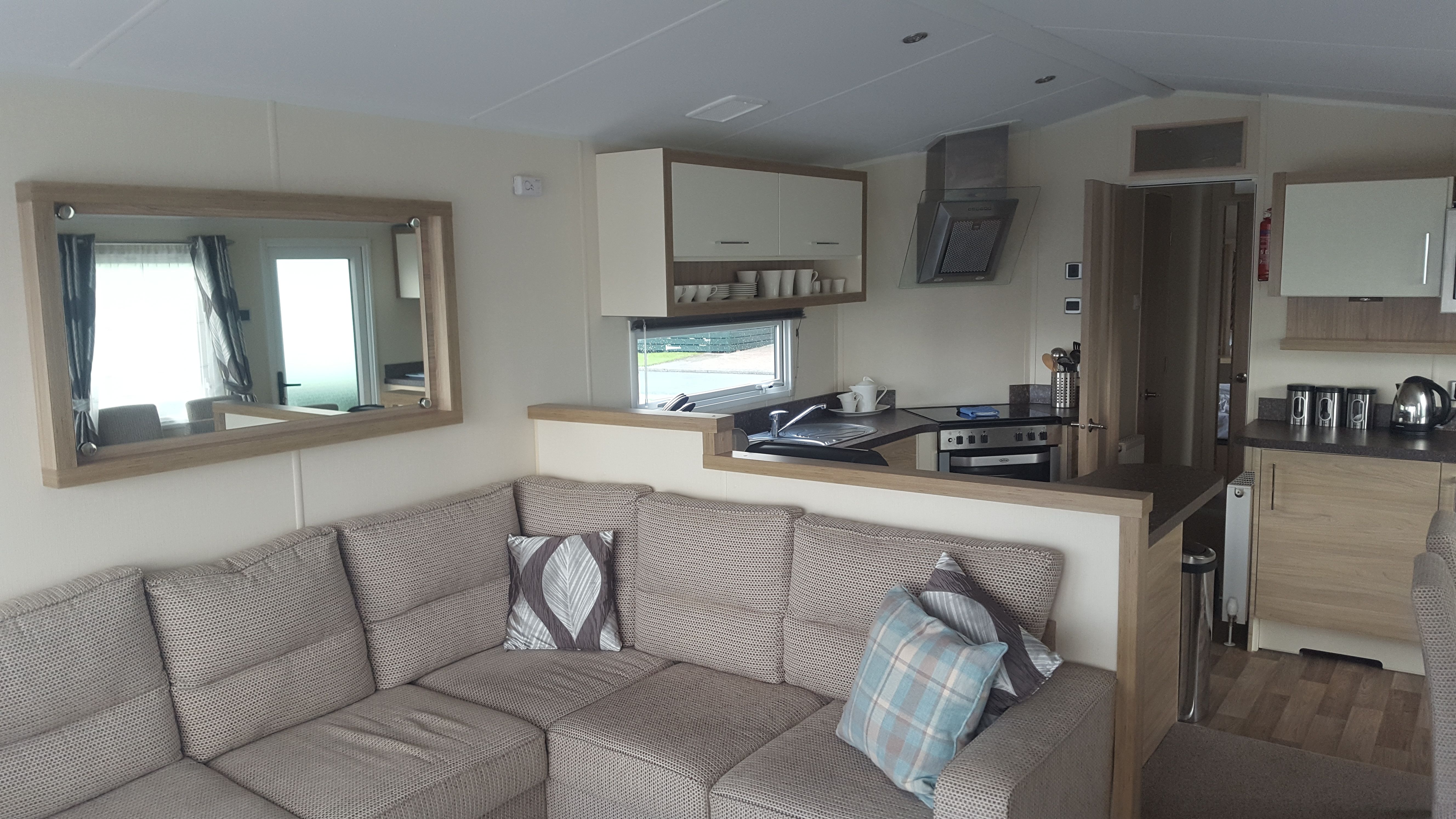 ruda holiday park devon croyde bay caravan lounge area