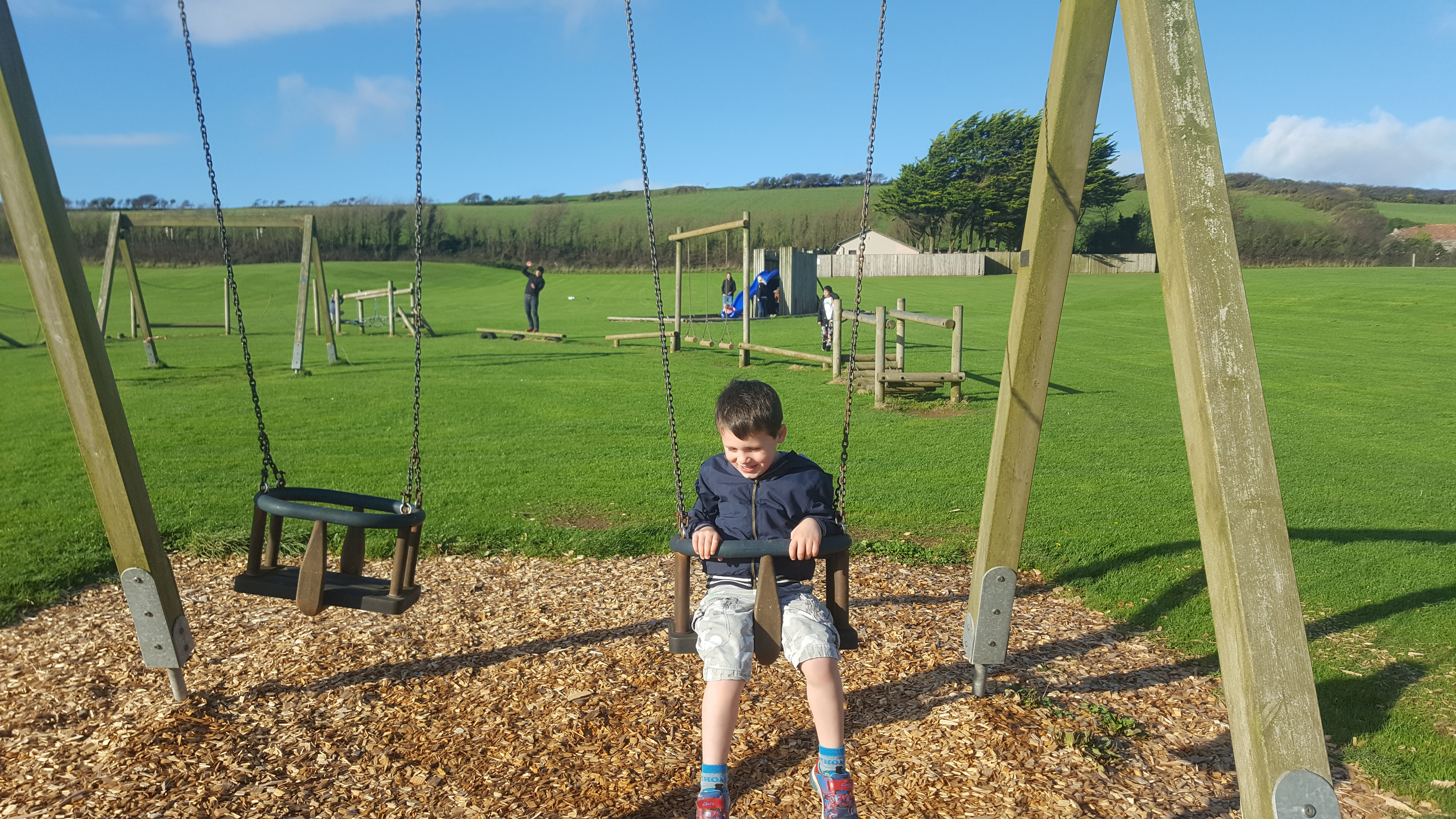 ruda holiday park devon croyde bay swings