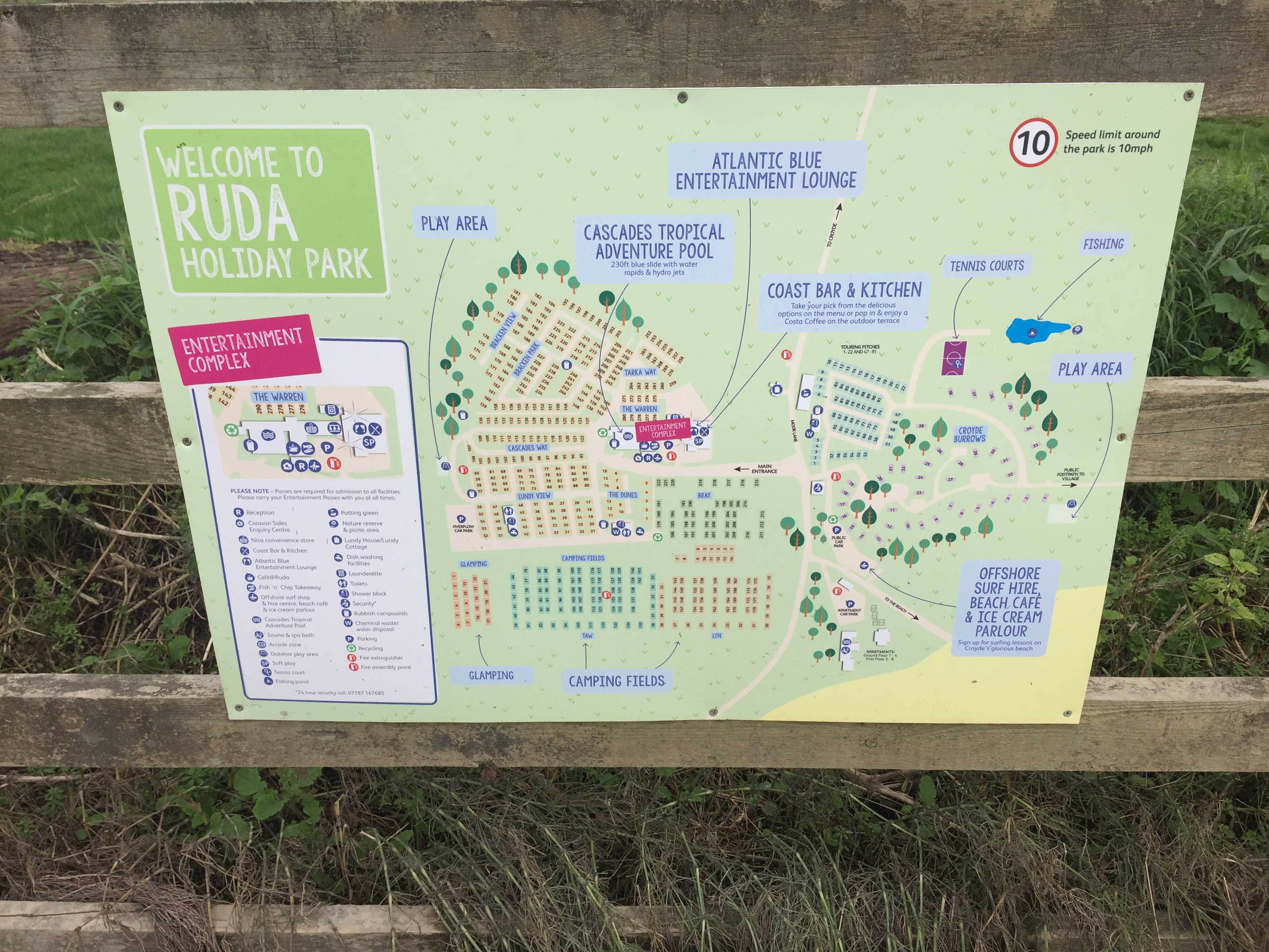 ruda holiday park devon croyde bay site map