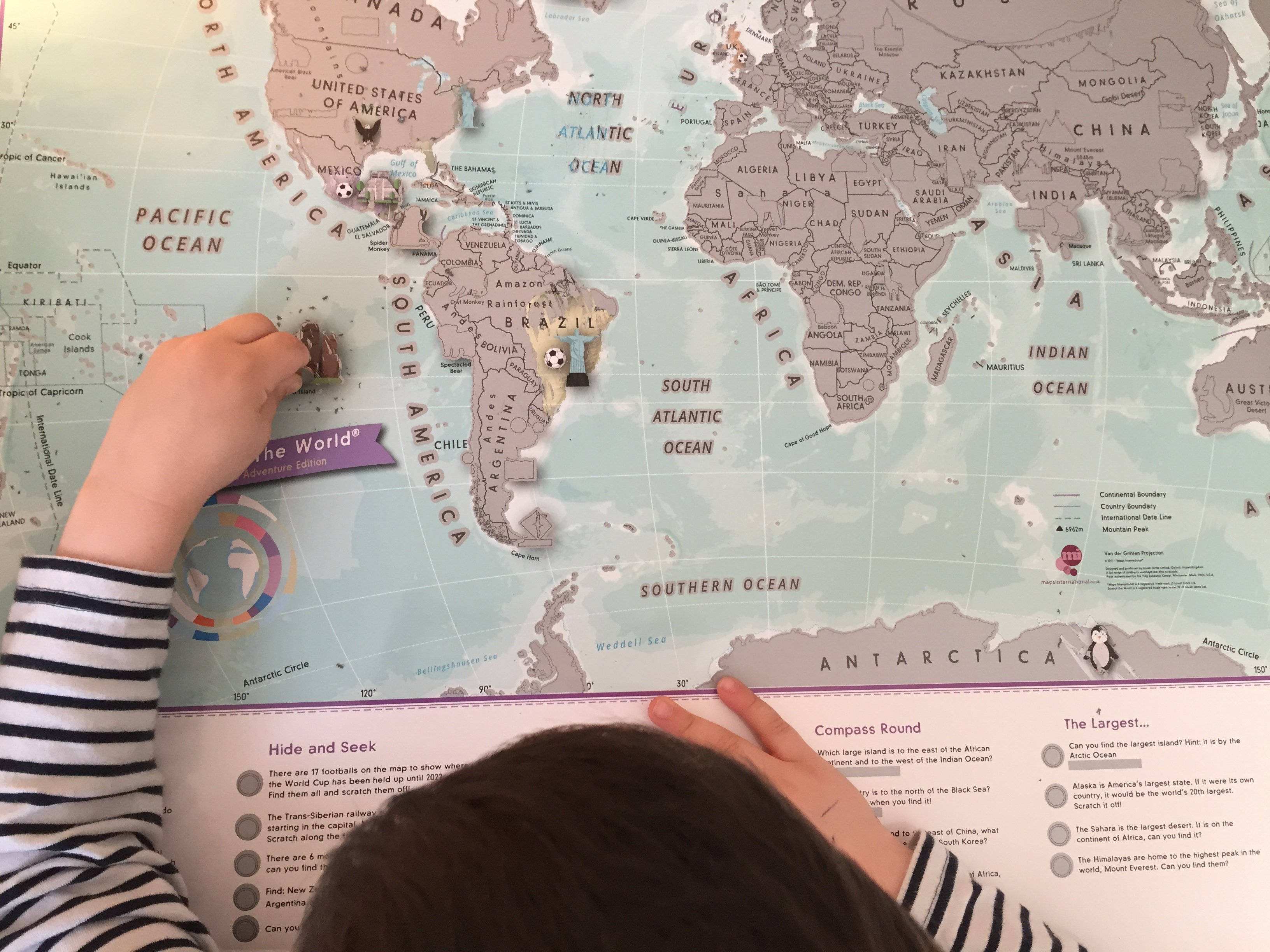 maps international kids scratch off map activity child uncovering map