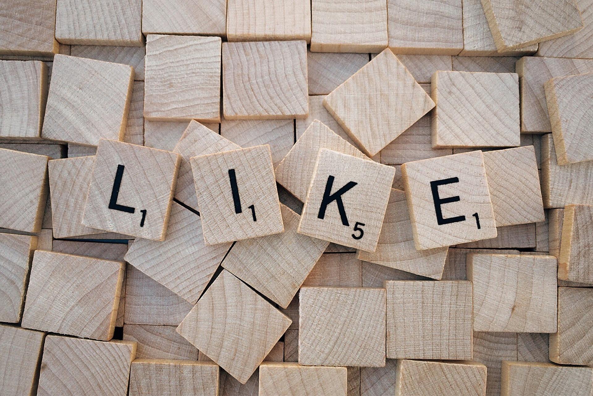 like social media image