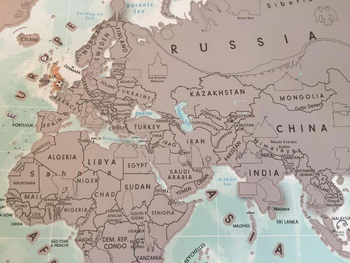 maps international kids scratch off map activity south america world