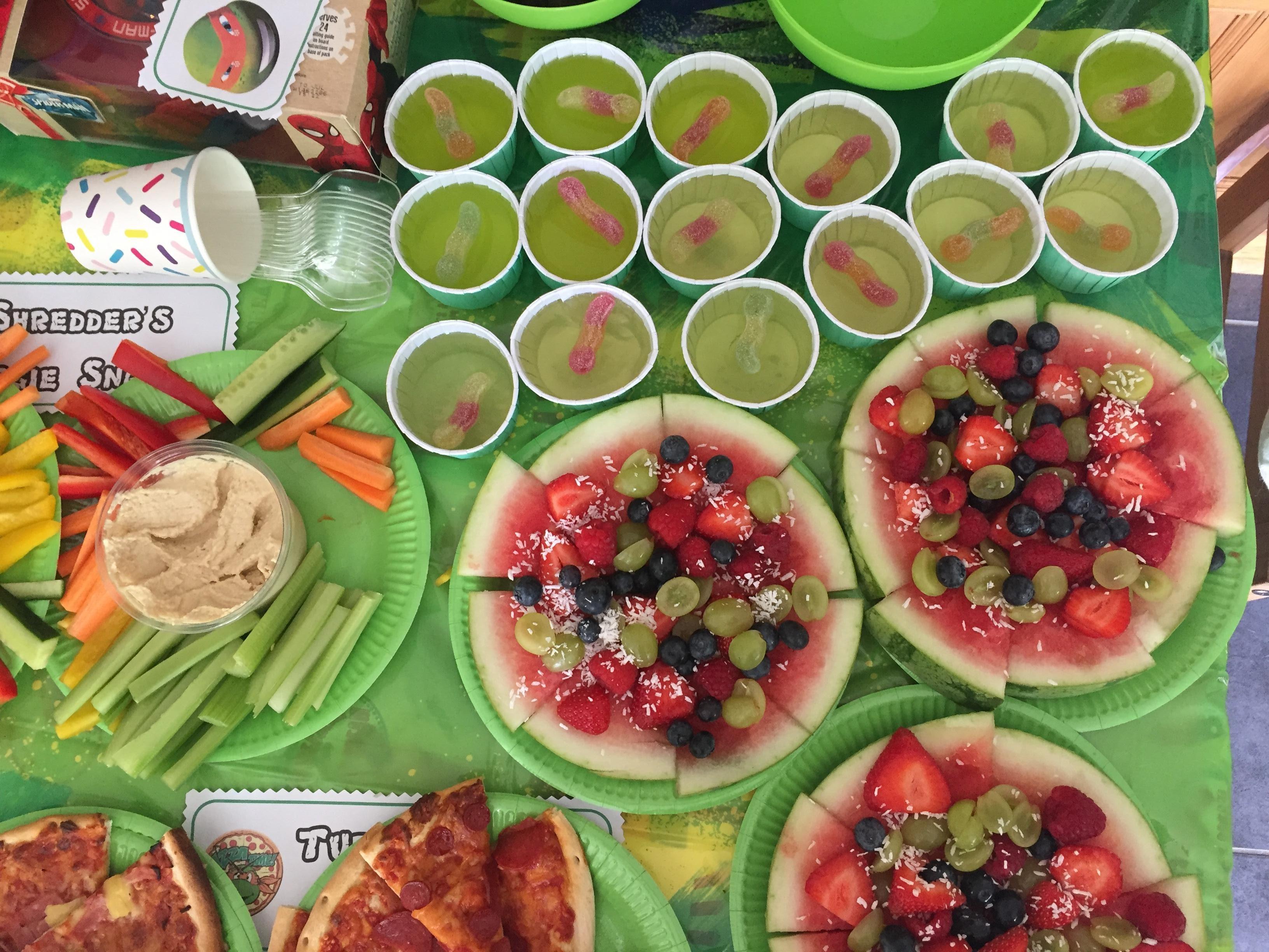 teenage mutant ninja turtles party theme food