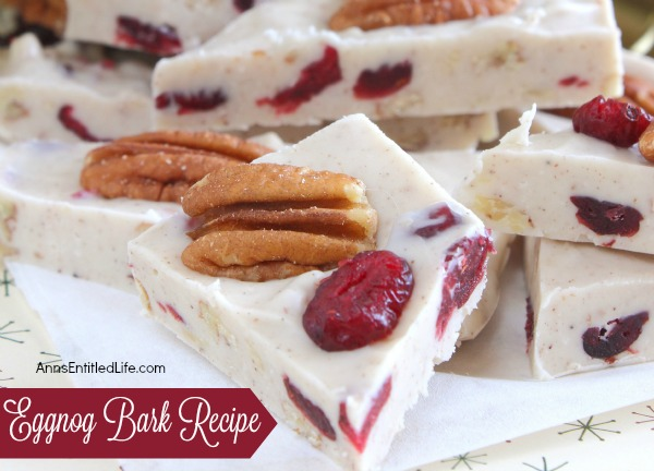 eggnog chocolate bark recipe