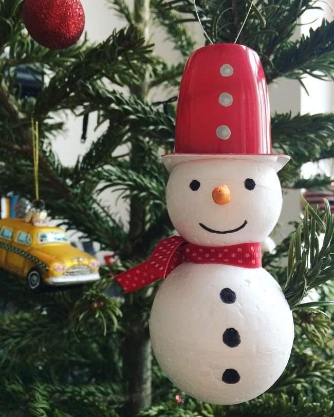 foam snowmen tree decorations